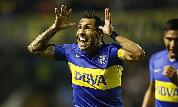 Festejo de gol de Carlos Tevez de Boca Juniors Boca Juniors vs Deportivo Cali Copa Libertadores 20 / Bild: (c) imago/Photogamma (imago sportfotodienst)